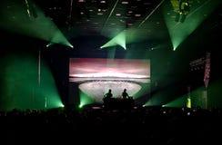 Iceland fale radiowy 2017 Koncertowy Harpa Obrazy Royalty Free