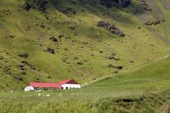 Iceland farmhouse Royalty Free Stock Image