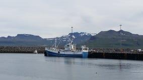Iceland fishing boat Stock Photo