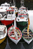 Iceland: Fishing boats Stock Images