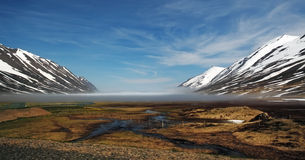 Iceland fjord - Héðinsfjarðarvatn Stock Images