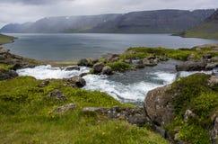 Iceland_Fjord_stream Стоковое Изображение RF