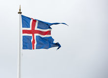 Iceland flag - flag of Iceland - Icelandic flag Royalty Free Stock Images