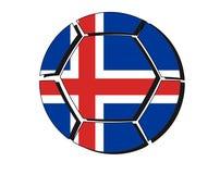 Iceland flag on football ball, 2018 Championship Stock Photography