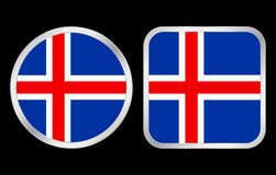 Iceland flag icon Royalty Free Stock Images