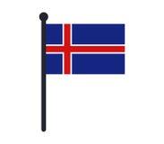Iceland flag icon illustrated Royalty Free Stock Photo