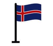 Iceland flag icon illustrated Royalty Free Stock Image
