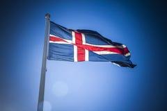 Iceland flag Royalty Free Stock Photography