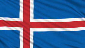 Iceland flag. stock video footage