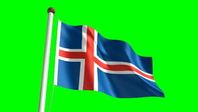 Iceland flag Stock Photography