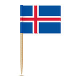 Iceland Flag toothpick 10eps Royalty Free Stock Image