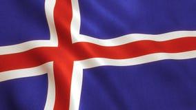 Iceland Flag Waving - Icelandic Background Royalty Free Stock Photo