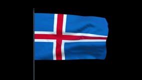 Iceland Flag Waving, Seamless Loop, stock footage Stock Photo