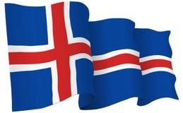 Iceland Flag Waving Vector Illustration Royalty Free Stock Image