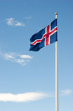 Iceland flaga Obrazy Royalty Free