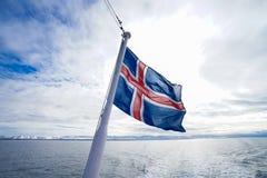 Iceland flaga Zdjęcie Royalty Free