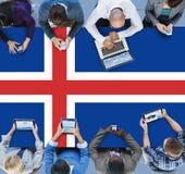 Iceland flaga państowowa wolności swobody Rządowy pojęcie Zdjęcia Stock