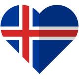 Iceland flat heart flag Stock Photo