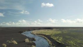 iceland flod arkivfilmer