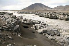 iceland flod arkivbilder