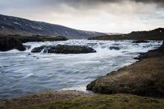 iceland flod Arkivbild
