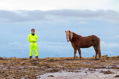 Iceland friends Royalty Free Stock Image