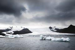 Iceland góra lodowa i lodowiec Fotografia Stock