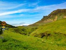 Iceland Geological krajobrazy zdjęcie stock