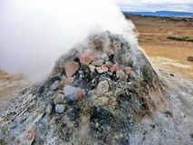 Iceland geothermal fumarole Stock Photography
