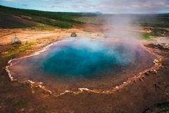 Free Iceland Geyser - Geysir Hot Spring Royalty Free Stock Images - 150135779