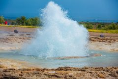 Iceland geyser Royalty Free Stock Photography