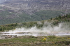 Iceland. The Geyser valley in Iceland Royalty Free Stock Photography