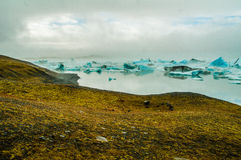 Iceland glacier. On a cloudy day Stock Image
