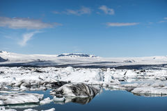 Iceland glacier lake Jokulsarlon glacial lagoon nature snow landscape Vatnajokull Stock Image