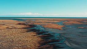 Iceland Glacier River Spill Global Warming drone 4k