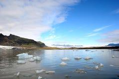 Iceland glacier sea icebergs Royalty Free Stock Photos