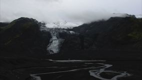 Iceland glacier timelapse stock video