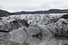 Iceland Glacier. Iceland View of Glacier Eyjafjallajkull Royalty Free Stock Photos