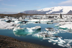 Iceland glaciers Stock Image