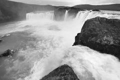 Iceland. Godafoss waterfall. Bardardalur field of lava. Stock Photos