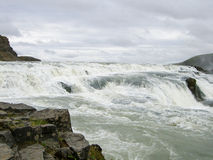 Iceland Gullfoss. Gulllfoss Waterfall Iceland in Spring Royalty Free Stock Images
