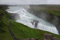 Iceland Gullfoss siklawa zdjęcie royalty free