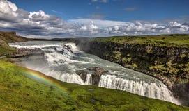 Iceland Gullfoss Waterfall Rainbow VIew