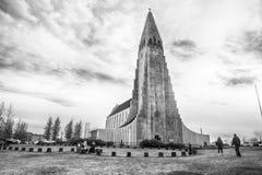 Iceland Hallgrimskirkja katedra w Reykjavik obraz royalty free