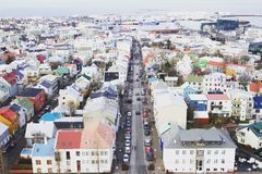 Iceland_Hallgrimskirkjakerk Royalty-vrije Stock Afbeelding
