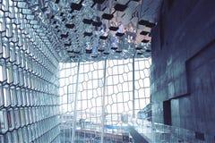 Iceland_ Harpa Concert Hall imagem de stock