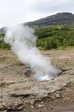 Iceland-Haukadalur -Litli Geysir-Golden Circle. Europe Travel Destination Stock Photos
