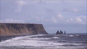Iceland headland stock video footage