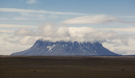 Iceland. Herdubreid Mountain. Highland region. F88 Road. Royalty Free Stock Photography