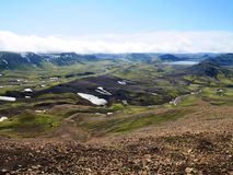 Iceland Highlands Landscape View royalty free stock images